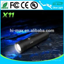 Hi-Max X11 CREE XM-L U2 LED Tauchen Hochleistungs-LED-Taschenlampe