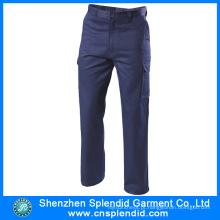 Calças de algodão por atacado do trabalho da carga dos homens do vestuário com alta qualidade