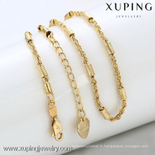 42283-Xuping Hot bijoux simple chaîne en or imitation collier
