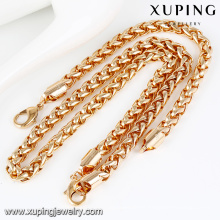64024- Xuping Best quality heavy alloy jewellri bracelet necklace set