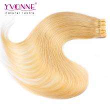 Factory Price Color #613 PU Skin Weft Hair Extension