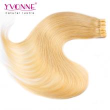 Extensão do cabelo de trama da pele do plutônio da cor # 613 do preço de fábrica