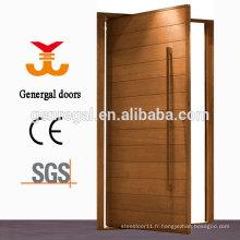 Porte pivotante extérieure en bois massif