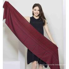 50%Cashmere 50%Silk Fashionable Yarn Dye Shawl