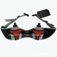 Sport-radfahrender Beutel-Gurt, der zwei Waterbottle-Taillen-Beutel reist