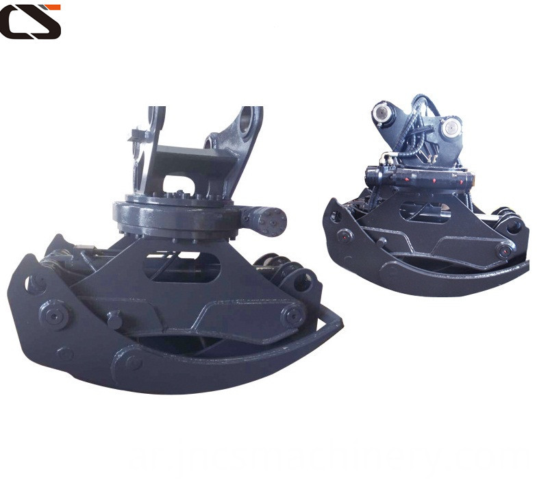 Excavator Hydraulic Single Cylinder Grapple