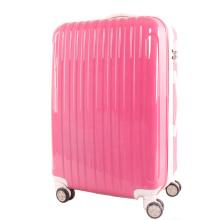 Sac à bagages Pinkycolor ABS + PC Trolley avec accessoires blancs