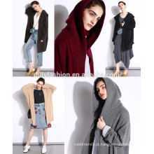 O mais recente saco de malha de cachemira e moletom com capuz de casaco com capuz