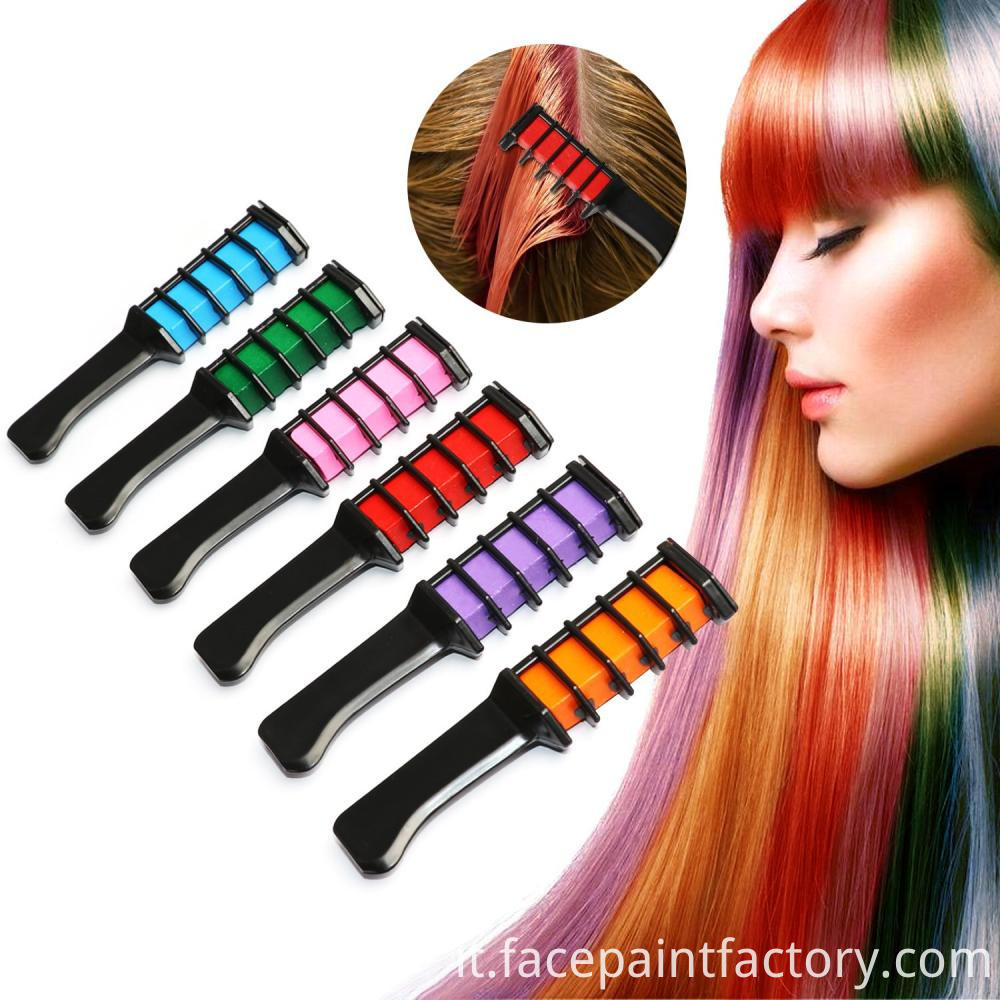 Hair Color Chalk Comb