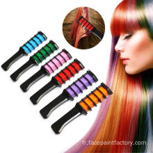 Non-toxic washable temporary hair chalk for dark hair