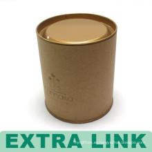 Caja de empaquetado china Caja de empaquetado impresa redonda del grano de café del tubo de papel libre de la insignia de encargo