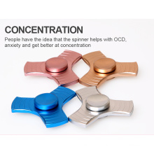 2017 New Fingertips Metal Spiral Fingers Fidget Hand Spinner for Anti Autism