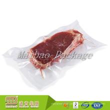 FDA genehmigt Lebensmittelqualität maßgeschneiderte transparente Heißsiegel Vakuum Shrink Taschen für gefrorene Fleisch Verpackung