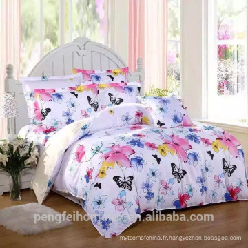 Tissu 100% polyester brossé pour drap de lit