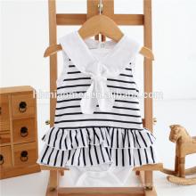 Фабрики Китая детские девушка одежда мода рюшами мягкий хлопок комбинезон белый и черный раздели ребенка ползунки оптовая