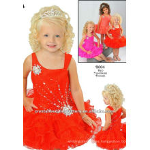 La nueva llegada 2013 rebordeó el vestido rizado del cabrito de la muchacha de flor de la mandarina CWFaf4432