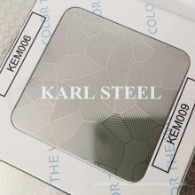 201 Stainless Steel Silver Color Embossed Kem009 Sheet