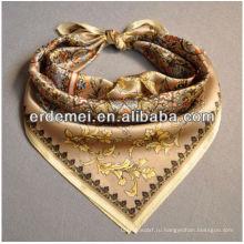 Шелковый шарф с цифровой печатью