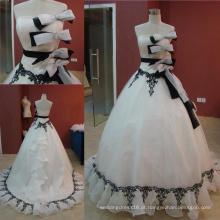 Vestido de noiva preto e branco vestido de baile