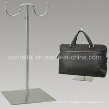 Suporte de tela de metal duplo em gancho para sacos