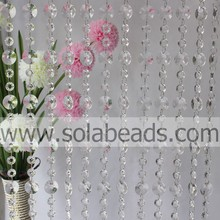 Suministra 30MM & 18 MM cristal cuentas Garland recorte