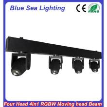 4pcs x 10W RGBW 4in1 feixe estreito levou luzes spot