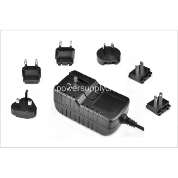 12V 2A Travel Power Adapter med avtagbar kontakt