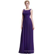Starzz 2016 nuevo vestido simple oscuro púrpura largo del baile de fin de curso de la gasa ST000061-6