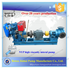 Botou NYP electric motor high viscosity chemical positive displacement glue pump