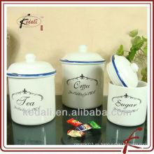 Envase de cerámica de la etiqueta única