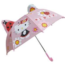 Hight quality Hello kitty Anima fancy unicorn cat umbrella for kids children