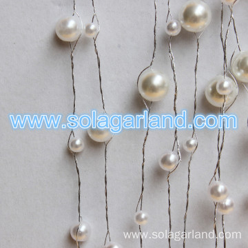 Acrylic Pearl Bead Garland Artificial Tree Branches