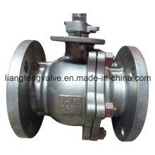 Válvula de esfera de extremidade de flange de aço inoxidável
