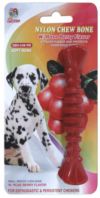 rasberry spiral dog chew - 4.5inch