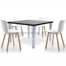 Elegante cadeira de jantar de plástico com pernas de faia européias (sp-uc007)