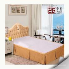 Jupe de lit populaire pour l'hôtel utilisant