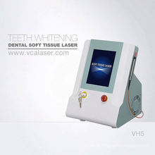 Dentes claros dentais do laser 808nm do diodo do tecido de VCA que Whitening