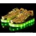 Unisex girls boys USB charging luminous LED sports shoes for children