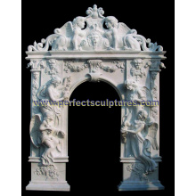 Stone Marble Granite Arch Door for Door Surround Doorway (DR045)