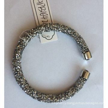 Wholesale Open Gray Bracelet with Metal