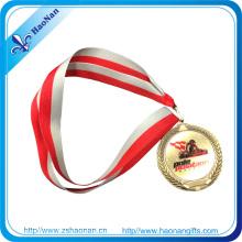 Custom Design Stoff Militär Medaille Antik Gold Ribbon