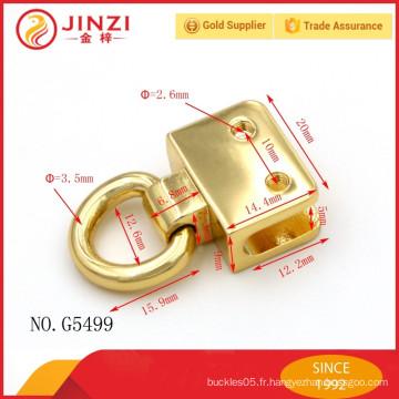 Tous les sacs de décoration personnalisés à la mode verrouillent le sac en métal en alliage de zinc en métal de Jinzi