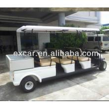 Carro elétrico do golfe do preço elétrico do combustível 48V dos 6 assentos com carga pequena