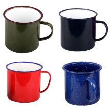 Fabrication personnalisée 5/6/7/8/9/10/11 / 12mm émail thé tasse à café tasse