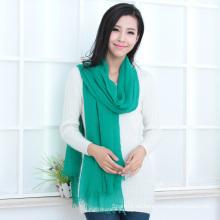 Moda 30% seda y 70% modales mantón en color sólido (12-BR030120-1.18)
