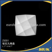 Factry venda direta retângulo branco 7size quadrado placas de cerâmica de design