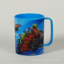 3D Effect Lenticular PP Plastic Cup with Handle