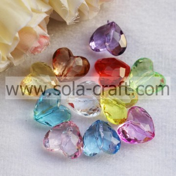 12*17*19MM Transparent Colors Zhejiang Heart Beads Wholesale