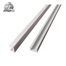 Plusieurs types et tailles de profilés de gouttière en aluminium extrudé en aluminium inox