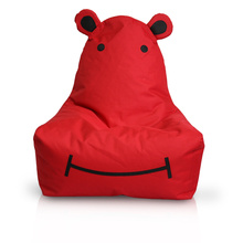 600D red Hippo bean bag for children